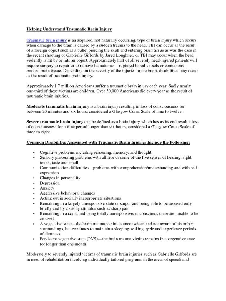 helping understand traumatic brain injury | traumatic brain injury