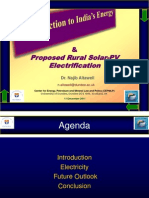 Introduction to India's Energy and Proposed Rural Solar-PV Electrification