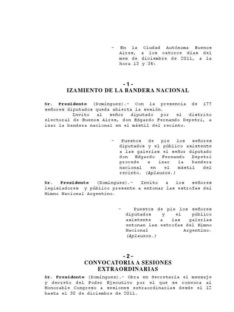 Diputados Sesión Extraordinaria del 14-12-11 Presupuesto y paquete de  medidas económicas 468ead04f22