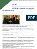 (El Perú firmó contrato de concesión con operador de telefonía móvil _ El Comercio Perú)