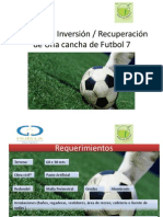 Análisis de Inversión para una cancha de futbol
