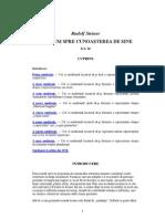 Rudolf Steiner - Un Drum Spre Cunoasterea de Sine