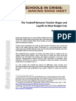 The Tradeoff Between Teacher Wages and Layoffs to Meet Budget Cuts - CRPE