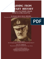 MAURICE Frederick and N. MALCOM. Learning From Military History 1913