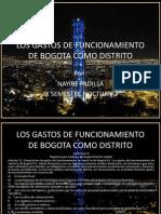 Los Gastos de Funcionamiento de Bogota Como Distrito