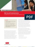 RSA Secure ID Authenticators
