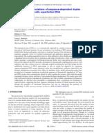 Steven P. Mielke, Niels Grønbech-Jensen, V. V. Krishnan, William H. Fink and Craig J. Benham- Brownian dynamics simulations of sequence-dependent duplex denaturation in dynamically superhelical DNA