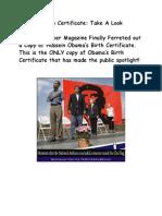 Hussein Obama's Birth Certificate (Copy)