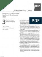 IHK_Prüfung_Kaufmann_KaufmannischeHandelstätigkeit_Sommer2009