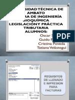 requisitos de impresión y llenado de factura, nota de venta, nota de venta simplificada y comprobantes de retención