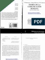 Watzlawick Paul & Otros - Teoria de La Comunicacion Humana