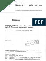NCh22573 – Morteros Determinación de las consistencia Parte 3 Método del asentamiento del cono