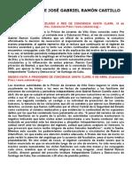 Reportes Sobre JosÉ Gabriel RamÓn Castillo en PrisiÓn