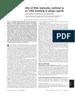 Javier Arsuaga, Mariel Vazquez, Sonia Trigueros, De Witt Sumners and Joaquim Roca- Knotting probability of DNA molecules confined in restricted volumes