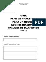 GUIA PLAN DE MARKETIING 7 Distribución Claudio