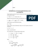 Diferensial Fungsi Eksponensial Dan Logaritma
