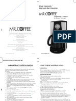 Mr. Coffee Manual