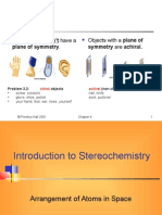 Stereo Chemistry Introduction WS10-11