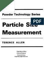 Terence Allen Particle Size Measurement