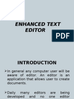New Enhanced Text Editor