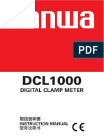 Manual Book Clamp Meter DCL1000
