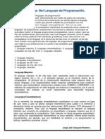 Características de los lenguajes de programación