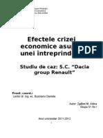 Efectele Crizei Asupra Dacia Group Renault - Principal