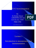 Lecture01 Introduction to Measurement and Instrumentation Compatibility Mode