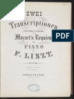 Mozart Requiem Liszt Piano Transskript