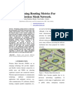 Designing Routing Metrics for Wireless Mesh Networks