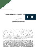 Communication Politique Et Legitimite