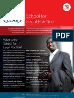 School for Legal Practice 2012v2 September 2011