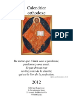 Calendrier orthodoxe 2012