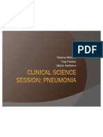 Clinical Science Session Pneumonia