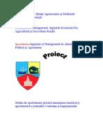 Amenajarea Agroturistica a Teritoriului
