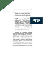 GESTÃO AMBIENTAL - Aspectos Da Política Nacional Do Meio Ambiente O Estudo De Impacto Ambiental Como Instrumento Preventivo