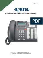 Nortel CallPilot Manager (OnLine Admin)