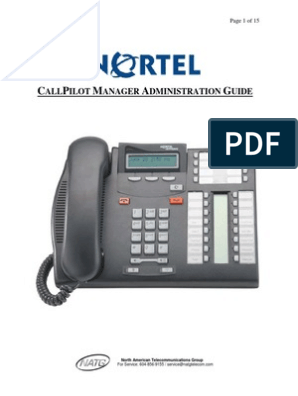 Nortel CallPilot Manager (OnLine Admin) | Email | Networks