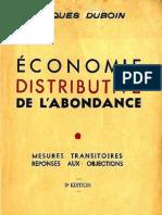 69755261 Duboin Jacques L Economie Distributive de l Abondance