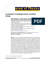 Piotr Pieranski, Sandor Kasas, Giovanni Dietler, Jacques Dubochet and Andrzej Stasiak- Localization of breakage points in knotted strings