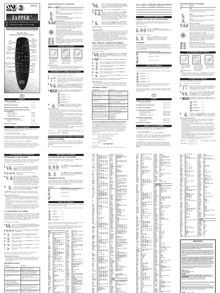 Manual Urc3505 Espagnol