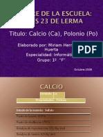 Trabajo de QUIMICA Calcio y Polonio