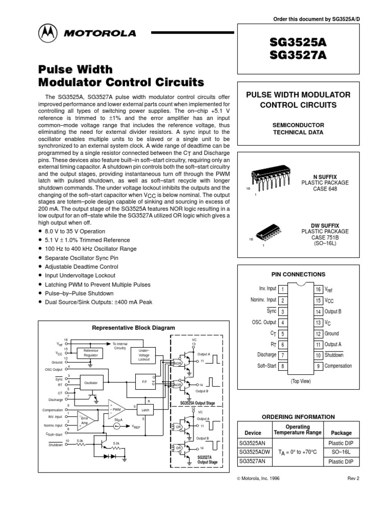 Sg3525 Capacitor Electronic Circuits Dc Motor Controller By