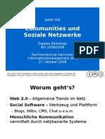 Communities und Soziale Netzwerke