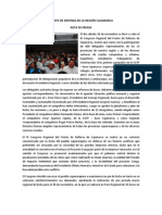 Nota de Prensa Del Fr Nte de Defensa de Los Intereses de La Region Cajamarca[1]