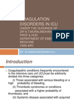 Coagulation Disorders in ICU