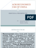 Key Macroeconomics Issues of China