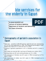 Resources in Egypt for Geriatrics Care