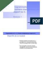 01 - Program Mat Ion en Cpp 1. Premiers Changements Par Rapport Au C