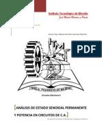 Análisis de Estado Senoidal Permanente y Potencia en Circuitos de C.A.